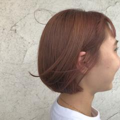 ナチュラル ミニボブ 透明感カラー ショートボブ ヘアスタイルや髪型の写真・画像