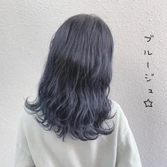 ストリート ブルージュ シルバー グレージュ ヘアスタイルや髪型の写真・画像