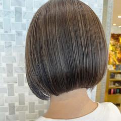 ミニボブ ナチュラル ボブヘアー ボブ ヘアスタイルや髪型の写真・画像