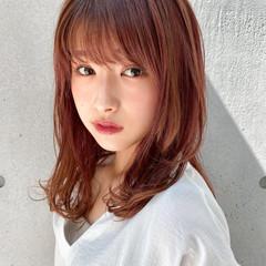 ナチュラル デジタルパーマ ミディアム モテ髪 ヘアスタイルや髪型の写真・画像