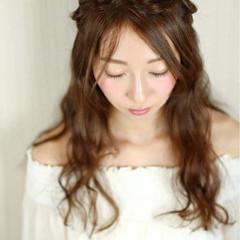 ロング 大人かわいい 前髪あり ヘアアレンジ ヘアスタイルや髪型の写真・画像