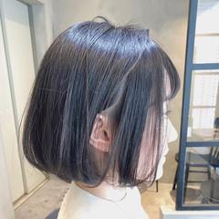 ウェットヘア ミニボブ ボブ エアリー ヘアスタイルや髪型の写真・画像