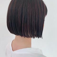 ナチュラル 暗髪 ボブ ミニボブ ヘアスタイルや髪型の写真・画像