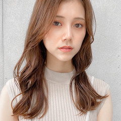 モテ髪 セミロング ひし形 ナチュラル ヘアスタイルや髪型の写真・画像