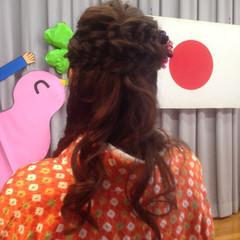 袴 謝恩会 編み込み パーティ ヘアスタイルや髪型の写真・画像