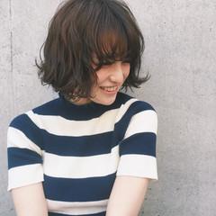 ボブ 外国人風 ふわふわ ストリート ヘアスタイルや髪型の写真・画像