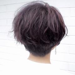 ハンサムショート ショートバング ショートヘア ショートボブ ヘアスタイルや髪型の写真・画像