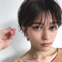 ショート ナチュラル マッシュショート 簡単スタイリング ヘアスタイルや髪型の写真・画像