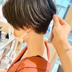 簡単スタイリング ショートヘア ショートボブ ベリーショート ヘアスタイルや髪型の写真・画像
