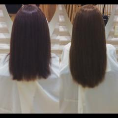 ナチュラル 艶髪 髪質改善カラー ロング ヘアスタイルや髪型の写真・画像