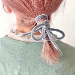 ピンクベージュ ナチュラル ラベンダーピンク ボブ ヘアスタイルや髪型の写真・画像