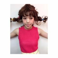 ミディアム ストリート 春 オン眉 ヘアスタイルや髪型の写真・画像
