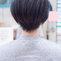 小顔ショート ナチュラル くびれボブ マッシュショート ヘアスタイルや髪型の写真・画像