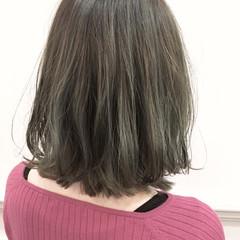 フェミニン モード グラデーションカラー ボブ ヘアスタイルや髪型の写真・画像