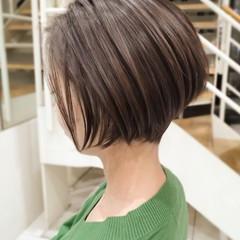 大人ハイライト ボブ 透明感カラー ショートヘア ヘアスタイルや髪型の写真・画像