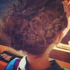 簡単ヘアアレンジ 渋谷系 暗髪 ロング ヘアスタイルや髪型の写真・画像