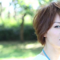 大人かわいい フェミニン ショート コンサバ ヘアスタイルや髪型の写真・画像
