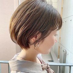 ショート デート ショートヘア オフィス ヘアスタイルや髪型の写真・画像