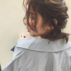 ゆるふわ フェミニン セミロング バレンタイン ヘアスタイルや髪型の写真・画像