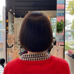 小顔 艶髪 お手入れ簡単!! ナチュラル ヘアスタイルや髪型の写真・画像