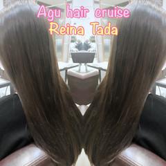 ロング 上品 ナチュラル 艶髪 ヘアスタイルや髪型の写真・画像
