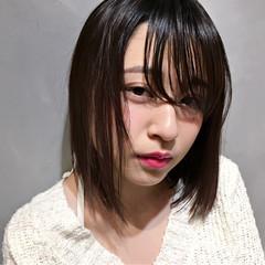 ニュアンス 色気 ボブ ミルクティー ヘアスタイルや髪型の写真・画像