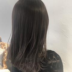 セミロング 大人ハイライト ハイライト 透明感カラー ヘアスタイルや髪型の写真・画像