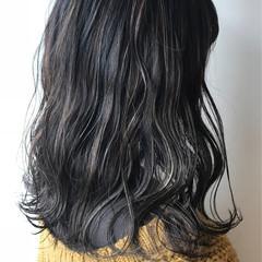 大人女子 ハイライト 大人かわいい セミロング ヘアスタイルや髪型の写真・画像