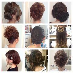 ハーフアップ ヘアアレンジ 外国人風 ミディアム ヘアスタイルや髪型の写真・画像