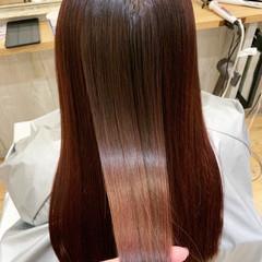 ナチュラル 大人女子 ロング ピンク ヘアスタイルや髪型の写真・画像