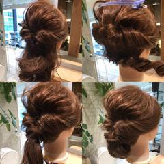 簡単 ナチュラル 編み込み 簡単ヘアアレンジ ヘアスタイルや髪型の写真・画像