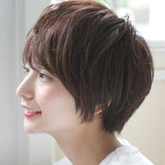 ショート ウェットヘア ストリート 小顔 ヘアスタイルや髪型の写真・画像