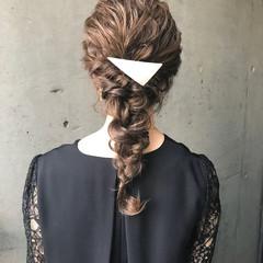 パーティ ロング ヘアアレンジ 結婚式 ヘアスタイルや髪型の写真・画像