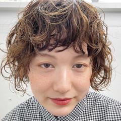 ナチュラル スパイラルパーマ パーマ ボブ ヘアスタイルや髪型の写真・画像