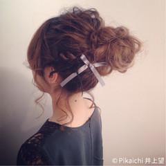 ヘアアレンジ お団子 ラフ 結婚式 ヘアスタイルや髪型の写真・画像