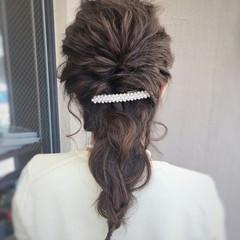 ショート 上品 結婚式 簡単ヘアアレンジ ヘアスタイルや髪型の写真・画像