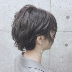 ショートヘア 結婚式 ヘアセット ヘアアレンジ ヘアスタイルや髪型の写真・画像