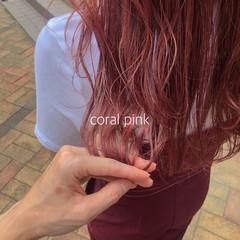 ピンクベージュ ナチュラル ピンク ベリーピンク ヘアスタイルや髪型の写真・画像