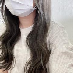 大人可愛い ロング オリーブベージュ 透明感カラー ヘアスタイルや髪型の写真・画像