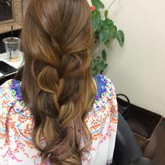 ロング グラデーションカラー ガーリー ダブルカラー ヘアスタイルや髪型の写真・画像