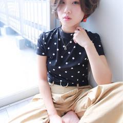 ショート フェミニン 大人女子 ボブ ヘアスタイルや髪型の写真・画像