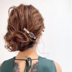 ミディアム 卒業式 結婚式ヘアアレンジ アップスタイル ヘアスタイルや髪型の写真・画像