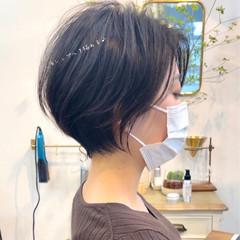 ショートボブ ハンサムショート ショートカット ショートヘア ヘアスタイルや髪型の写真・画像