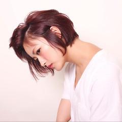 モード ボブ 色気 秋 ヘアスタイルや髪型の写真・画像