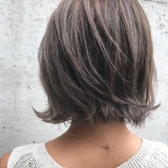 ナチュラル デート ハイライト ボブ ヘアスタイルや髪型の写真・画像