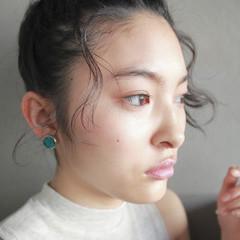 パーマ ヘアアレンジ 外国人風 暗髪 ヘアスタイルや髪型の写真・画像