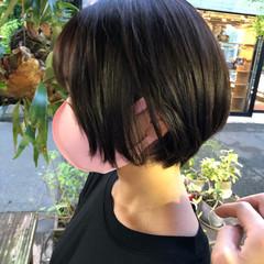 ミニボブ フェミニン ショート ブランジュ ヘアスタイルや髪型の写真・画像