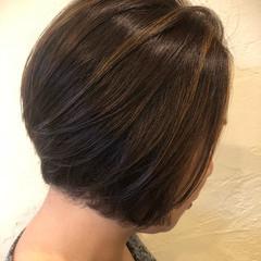 エレガント ボブ デート ハイライト ヘアスタイルや髪型の写真・画像
