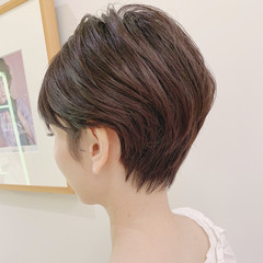 大人かわいい エレガント ベリーショート ショート ヘアスタイルや髪型の写真・画像