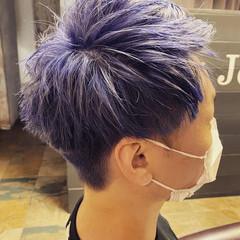 刈り上げ メンズヘア ショート フェードカット ヘアスタイルや髪型の写真・画像